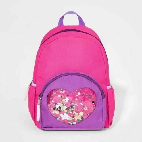 Cat & Jack Confetti Heart Pink Backpack